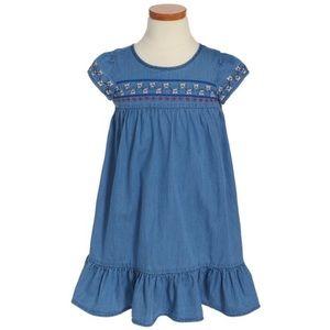 Tucker + Tate Girls Denim Embroidered Dress